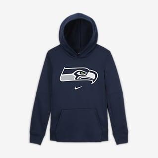 Nike Essential Seattle Seahawks Older Kids' (Boys') Logo Hoodie