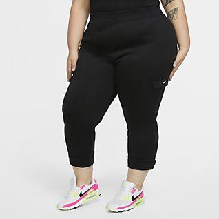 Nike Sportswear Swoosh Women's Polyknit Trousers (Plus Size)