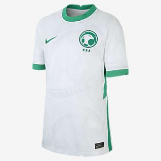 Arabia Saudita 2020 Stadium de local Camiseta de fútbol para niños talla grande