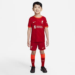 Liverpool FC 2021/22 Equipamento de futebol principal para criança