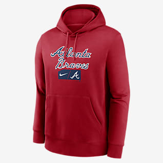 Nike Lettering Club (MLB Atlanta Braves) Men's Pullover Hoodie