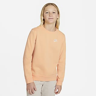 Nike Sportswear Sudadera de cuello redondo de French Terry para niño talla grande