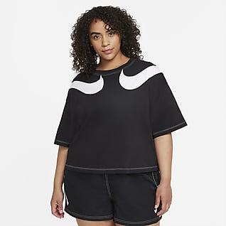 Nike Sportswear Swoosh Women's Cropped T-Shirt (Plus Size)