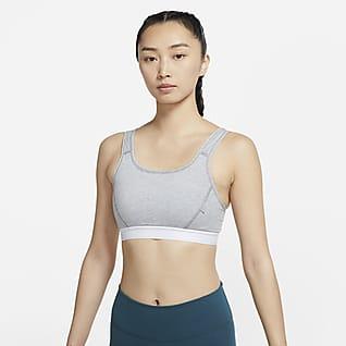 Nike Dri-FIT Swoosh Soft Tee 女子中强度支撑一片式衬垫运动内衣