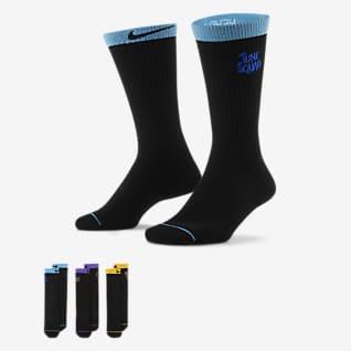 Nike x Space Jam: A New Legacy Κάλτσες μπάσκετ μεσαίου ύψους (τρία ζευγάρια)