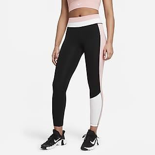 Nike One Leggings a 7/8 con blocchi di colore - Donna
