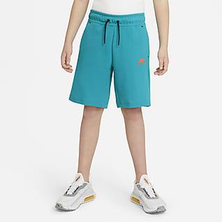 Nike Sportswear Tech Fleece Shorts para niño talla grande