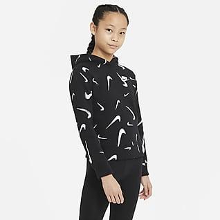 Nike Sportswear Sudadera con capucha estampada para niña talla grande