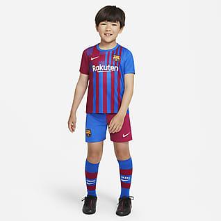 FC Barcelona 2021/22 Home Fußballtrikot-Set für jüngere Kinder