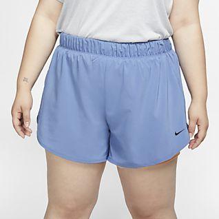 Nike Flex Dámské tréninkové kraťasy 2 v 1 (větší velikost)