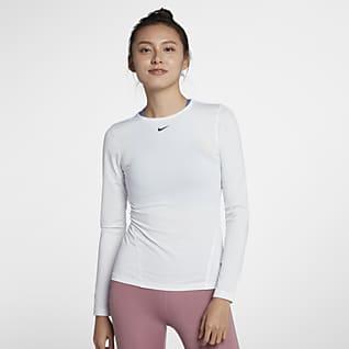 Nike Pro Mesh女子长袖训练上衣