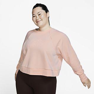 Nike Dri-FIT Luxe Camisola de treino de manga comprida para mulher (tamanhos grandes)