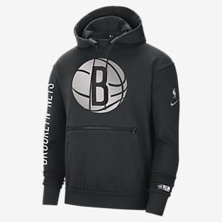 Brooklyn Nets Courtside Nike NBA-pullover-hættetrøje til mænd