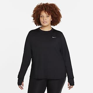 Nike Element Sudadera de cuello redondo de running para mujer (talla grande)