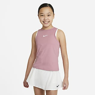 NikeCourt Dri-FIT Victory Camiseta de tirantes de tenis para niña talla grande