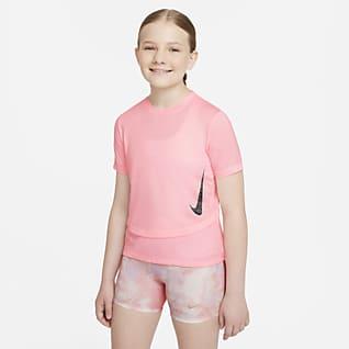 Nike Breathe Instacool เสื้อเทรนนิ่งเด็กโต (หญิง)
