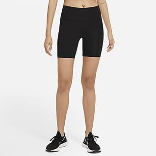 Nike Dri-FIT Fast Hardloopshorts met halfhoge taille voor dames (18 cm)