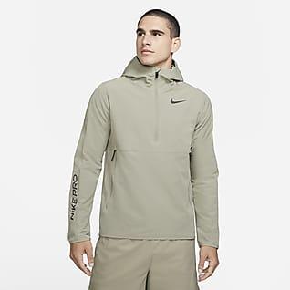 Nike Pro Sudadera con capucha de cierre 1/4 para hombre