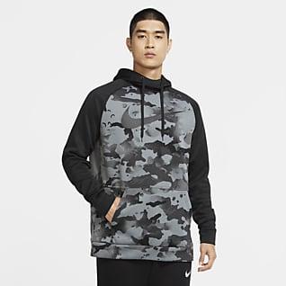 Nike Therma Sudadera con capucha sin cierre de entrenamiento de camuflado para hombre
