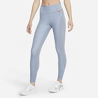 Nike Dri-FIT One Luxe Leggings jaspeados de tiro medio para mujer