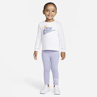 Nike Conjunto infantil de leggings y sudadera