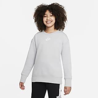 Nike Sportswear Club Fleece Genç Çocuk (Kız) Crew Sweatshirt'ü