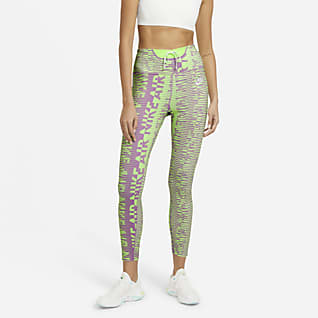 Nike Air Epic Fast Leggings de 7/8 estampats de cintura alta de running - Dona