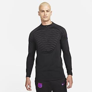 FC Barcelona Strike Winter Warrior Pánské fotbalové tréninkové tričko Nike Therma-FIT