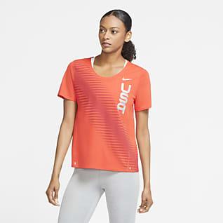 Nike Team USA City Sleek Damska koszulka do biegania