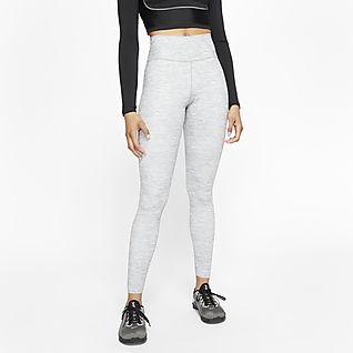 Nike One Luxe Melierte Damen-Tights mit mittelhohem Bund