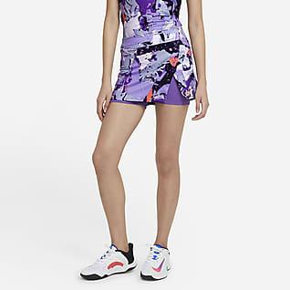 NikeCourt Victory Falda de tenis estampada para mujer
