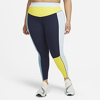 Nike One Leggings con bloques de color de tiro medio de 7/8 para mujer (talla grande)