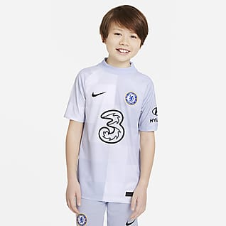 Chelsea FC 2021/22 Stadium Goalkeeper Fodboldtrøje til større børn