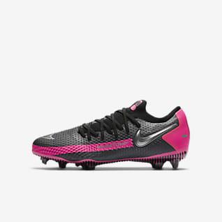 Nike Jr. Phantom GT Pro FG Voetbalschoen voor kids (stevige ondergrond)