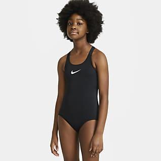 Nike Essential Jednodílné plavky sesportovním střihem zad pro větší děti (dívky)