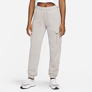 Nike Sportswear Calças cargo de lã cardada para mulher
