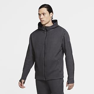 Nike Yoga Hosszú cipzáras, kapucnis férfipulóver