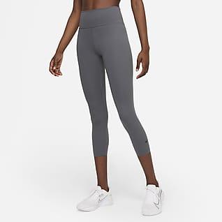 Nike One Luxe Leggings cropped de tiro medio para mujer