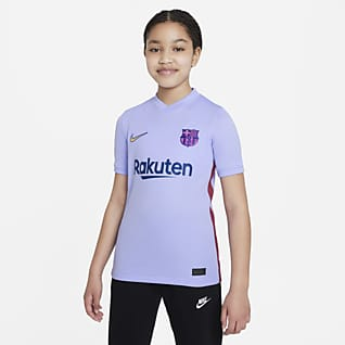 FC Barcelona 2021/22 Stadium Away เสื้อแข่งฟุตบอลเด็กโต Nike Dri-FIT
