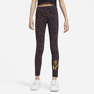 Nike Sportswear Legíny s potiskem pro větší děti (dívky)