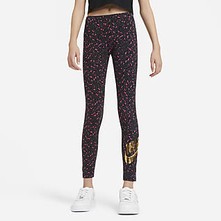 Nike Sportswear Mønstret leggings for store barn (jente)