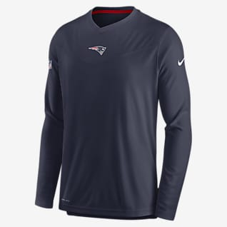 Nike Dri-FIT Sideline Coaches (NFL New England Patriots) Men's Long-Sleeve V-Neck T-Shirt