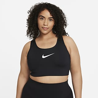 Nike Swoosh Women's Medium-Support Non-Padded Sports Bra (Plus size)