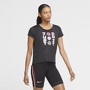 Nike Icon Clash Kısa Kollu Kadın Koşu Üstü