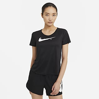 Nike Swoosh Run เสื้อวิ่งแขนสั้นผู้หญิง
