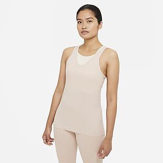Nike Yoga เสื้อกล้ามผ้าจั๊มพ์ผู้หญิง