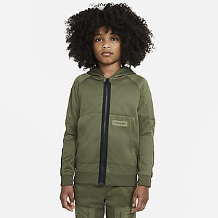 Nike Sportswear Air Max Μπλούζα με κουκούλα και φερμουάρ σε όλο το μήκος για μεγάλα αγόρια