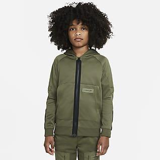 Nike Sportswear Air Max Huvtröja med dragkedja i fullängd för ungdom (killar)