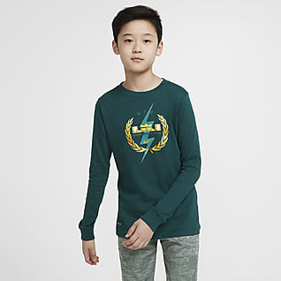 Nike Dri-FIT LeBron Big Kids' (Boys') Long-Sleeve Training T-Shirt