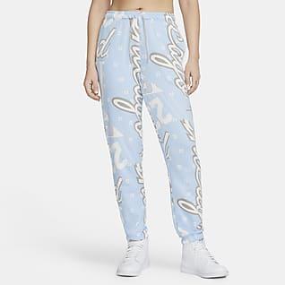 Jordan Pantalones de tejido Fleece con estampado por toda la prenda para mujer
